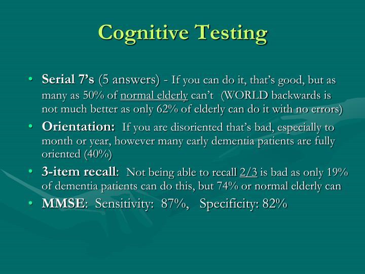 Cognitive Testing
