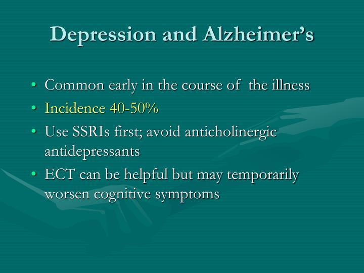 Depression and Alzheimer's