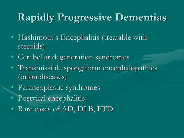 Rapidly Progressive Dementias