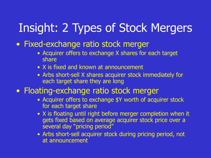 Insight: 2 Types of Stock Mergers