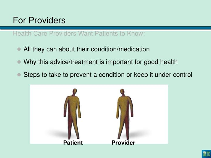 For Providers
