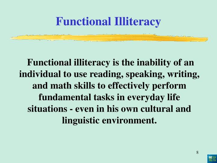 Functional Illiteracy
