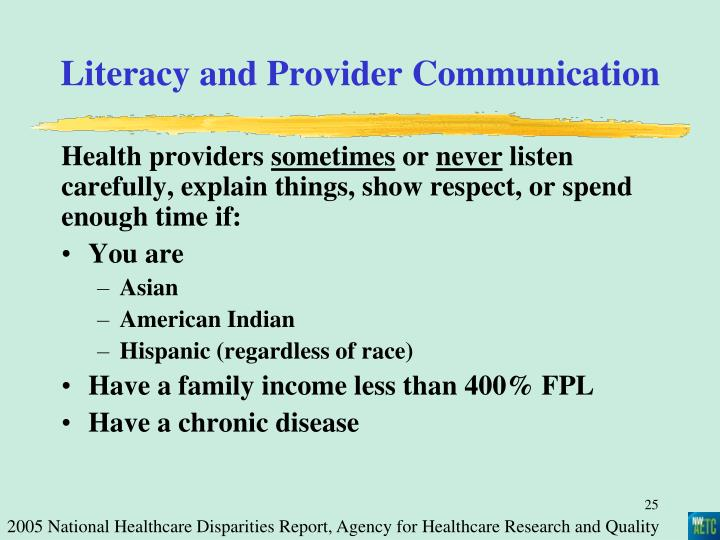 Literacy and Provider Communication