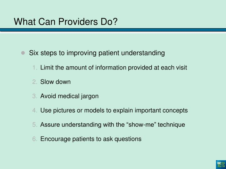 Six steps to improving patient understanding