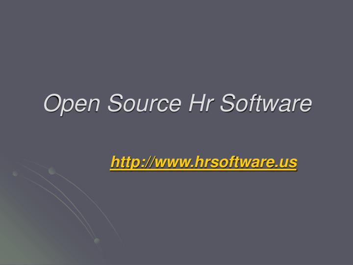 open source hr software n.