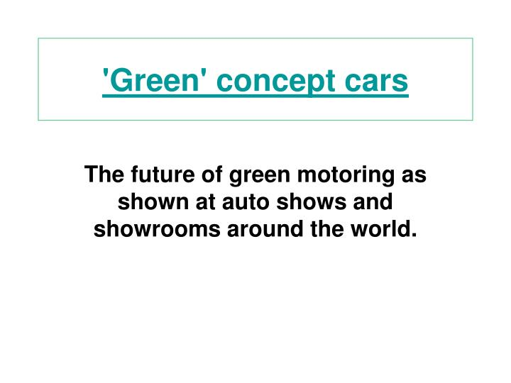 green concept cars n.
