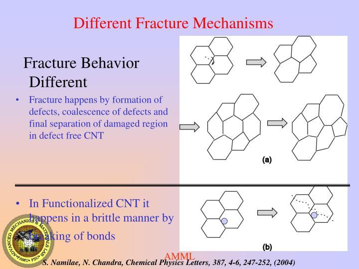 Different Fracture Mechanisms