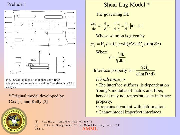 Shear Lag Model *