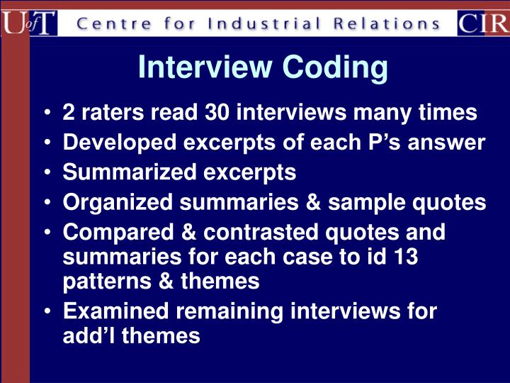 Interview Coding
