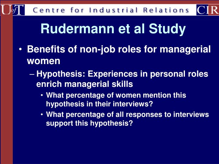 Rudermann et al Study