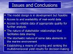 issues and conclusions