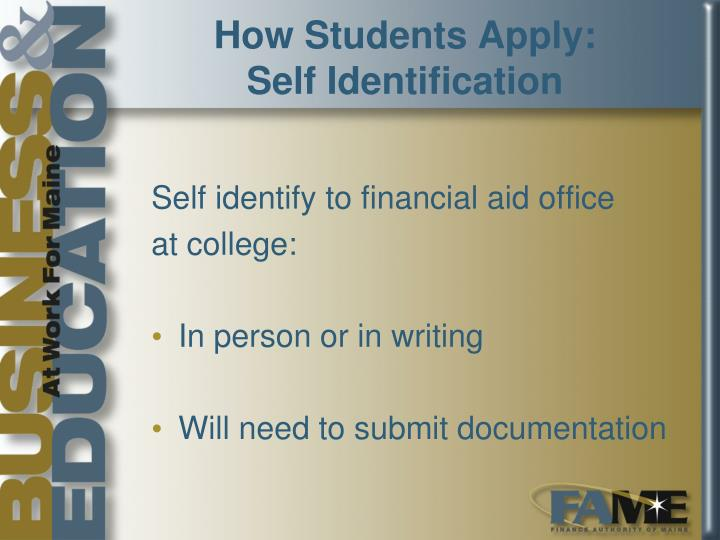 How Students Apply: