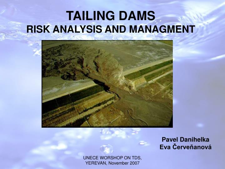 tailing dams risk analysis and managment n.