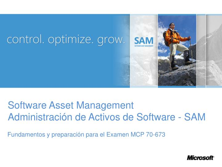 Software asset management administraci n de activos de software sam