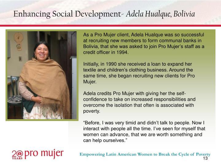 Enhancing Social Development-