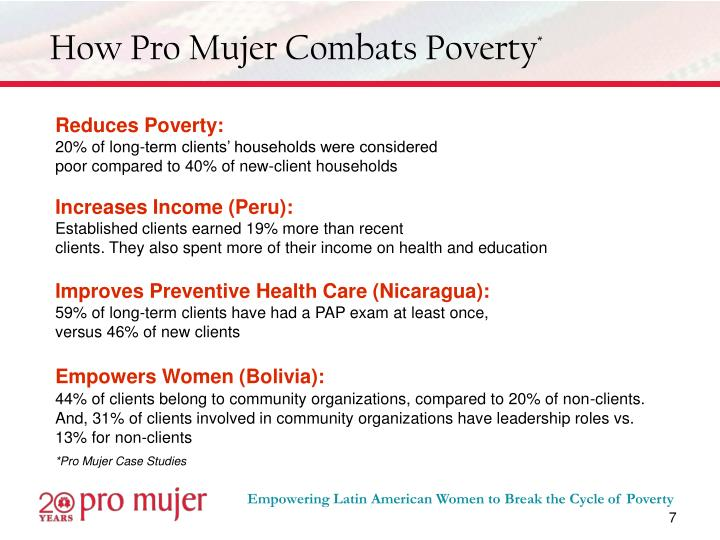 How Pro Mujer Combats Poverty