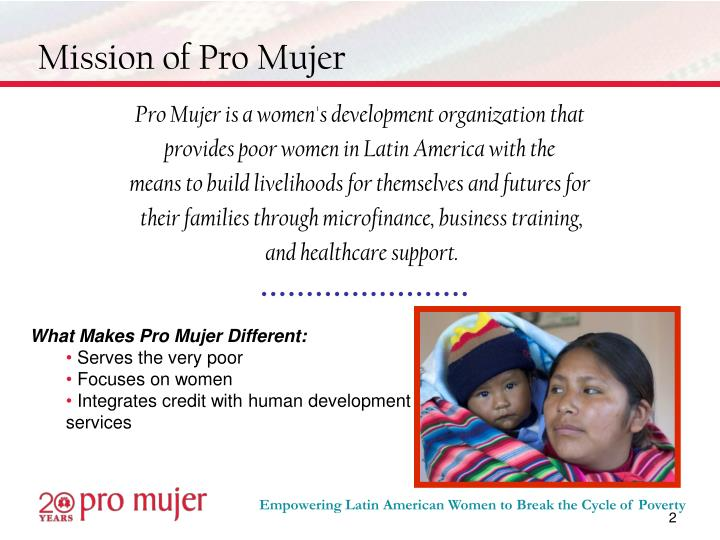 Mission of pro mujer