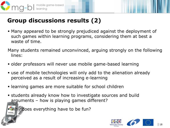 Group discussions results (2)