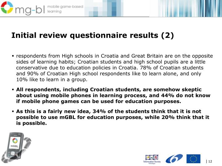 Initial review questionnaire results (2)