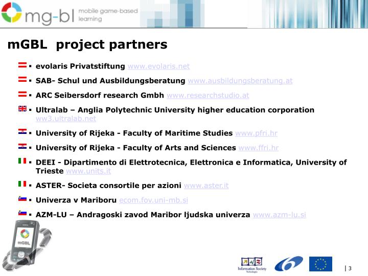Mgbl project partners