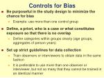 controls for bias
