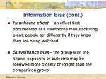 information bias cont