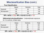 misclassification bias cont2