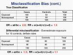 misclassification bias cont3