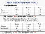 misclassification bias cont5