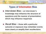 types of information bias
