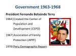 government 1963 1968