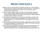 works cited cont1