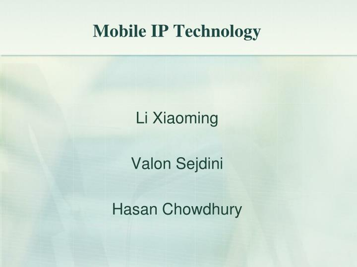 mobile ip technology n.