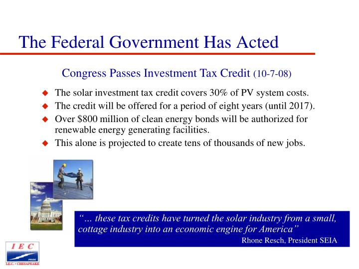 The Federal Government Has Acted
