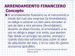 arrendamiento financiero concepto
