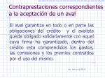 contraprestaciones correspondientes a la aceptaci n de un aval