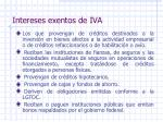 intereses exentos de iva1
