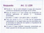 respuesta art 11 lisr