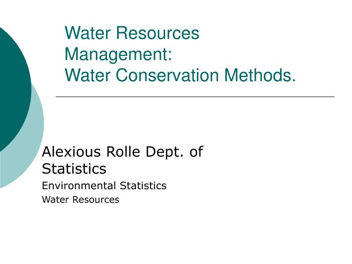 water resources management water conservation methods n.