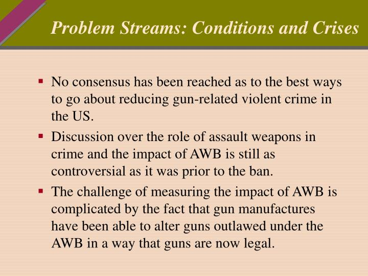 Problem streams conditions and crises
