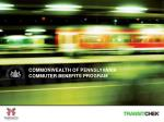 c ommonwealth of pennslyvania commuter benefits program