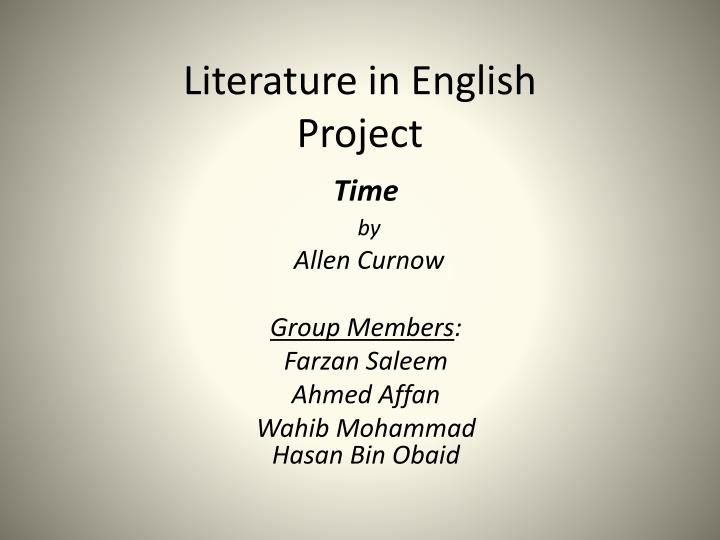 literature in english project n.