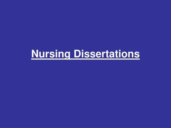 Nursing Dissertations