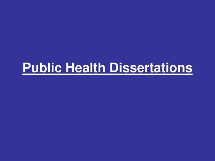 Public Health Dissertations