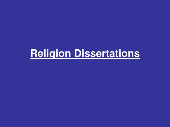 Religion Dissertations