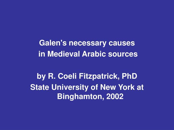 Galen's necessary causes