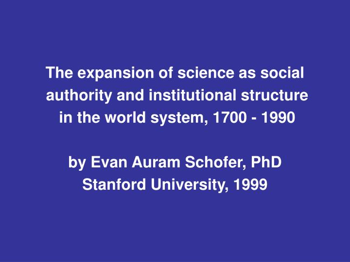 The expansion of science as social