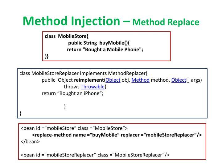 Method Injection –