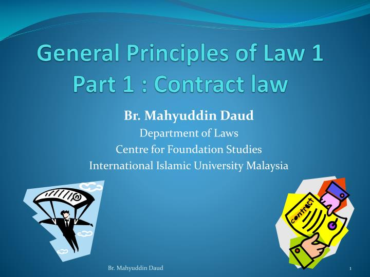 general principles of law 1 part 1 contract law n.