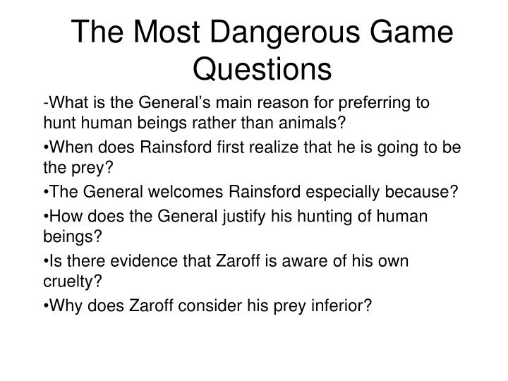 essay questions for the most dangerous game
